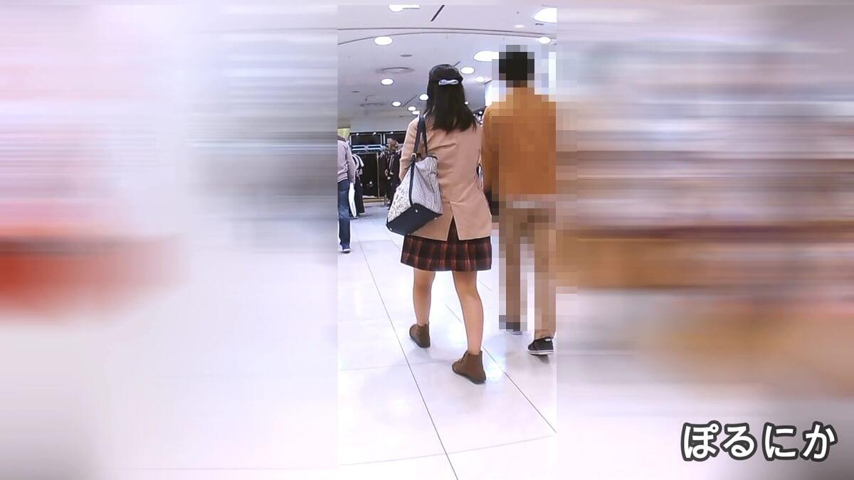 古風美人な女性の後ろ姿を隠し撮り