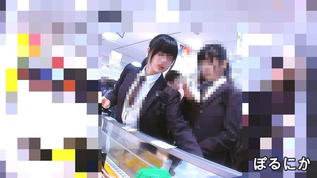 超絶かわいい制服JKの顔を隠し撮り