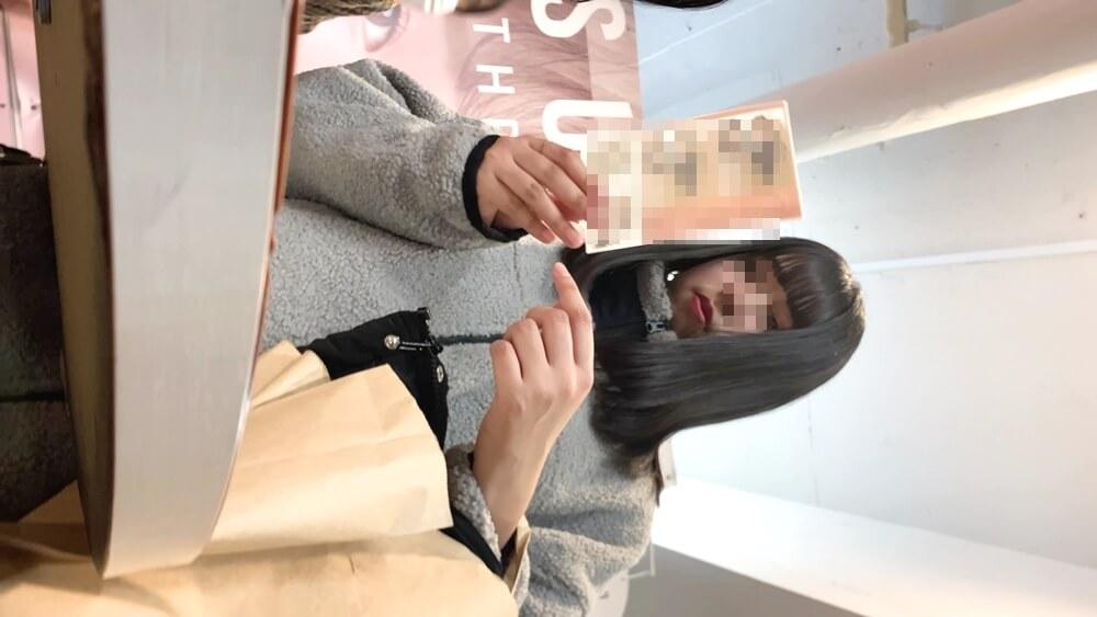 3人目の逆さ撮りターゲットの私服JKの顔画像
