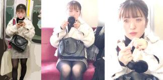 超スーパー芸能人級美女の黒ストモロパンティ - Pcolle、Gcolleレビュー 感動の最終回さん - 電車内水平撮りパンチラ