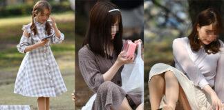 2021✨お花見ガールズ♪1 - Pcolle、Gcolleレビュー sceneさん - 容姿のいい女性3人のパンチラをピックアップしてレビュー