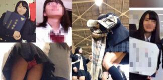 【校内5】3人 (2日&1日&2日) - pampiレビュー トゥルーマンさん - リアル教室でクラスメイトの制服JKのパンチラを逆さ撮り