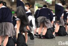 【オリジナル撮影】制服JK 風でスカートふわりPART5【動画】 - Pcolleレビュー コエンジさん - JKの日常の中で吹き荒れた風によるパンチラと可愛い生尻!