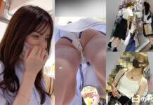 北◯景子似の美女 - pampiレビュー チキンさん - パンチラ&色白ハミ尻が高画質で!イマドキ美人を逆さ撮り!