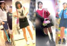 4人の美少女のパンチラを集めてみました。 - Pcolleレビュー - 純真無垢なJCパンツを逆さ撮り&脚当て気付かれまくり