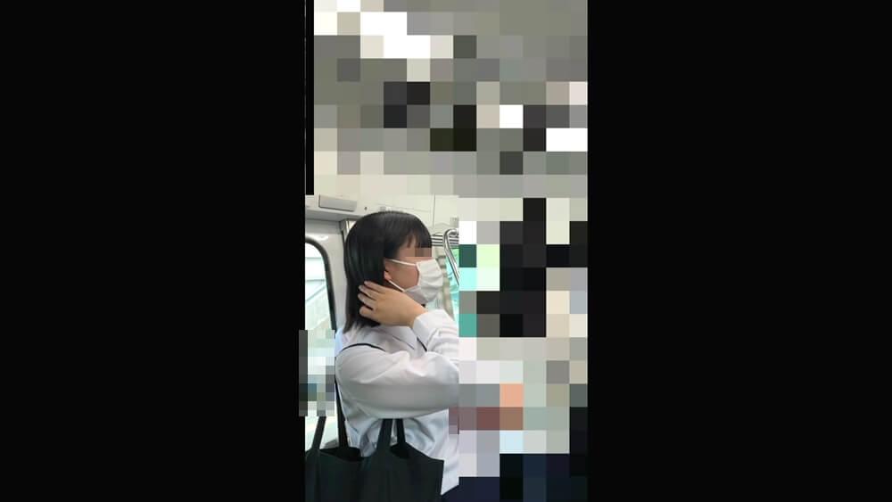 かわいいJKの横顔を映した画像